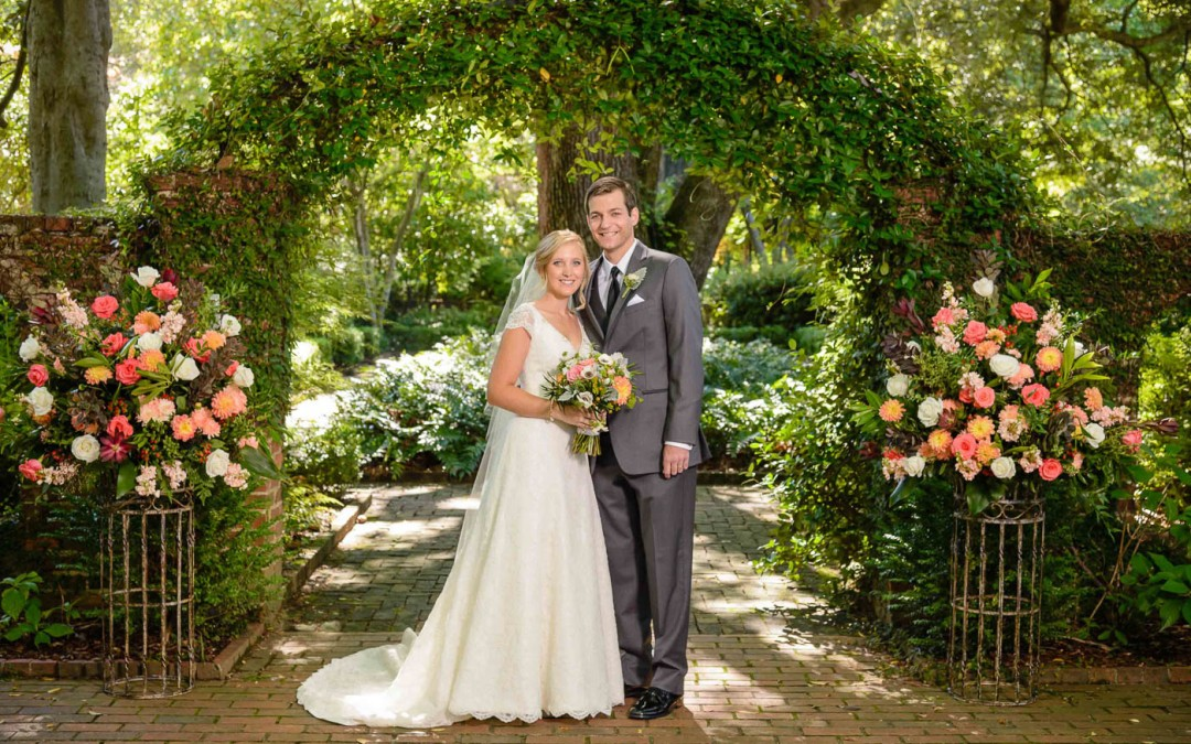 October Wedding At The Lace House and Gardens in Columbia, SC
